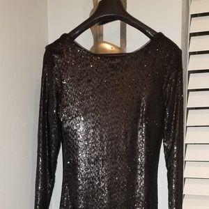 Black sequins dress